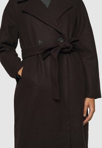 Vero Moda Petite - VMMERLEMAY LONG PETITE - Classic coat - chocolate plum - 6
