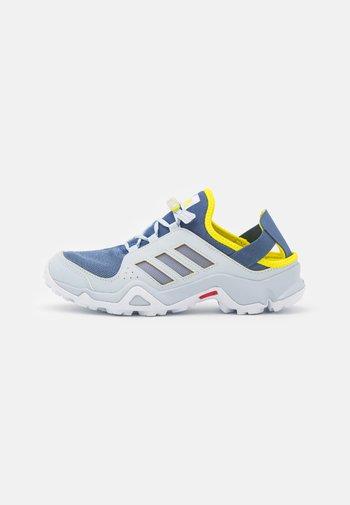 TERREX HYDROTERRA UNISEC - Hiking shoes - crew blue/footwear white/acid yellow