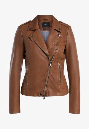 Leather jacket - camel