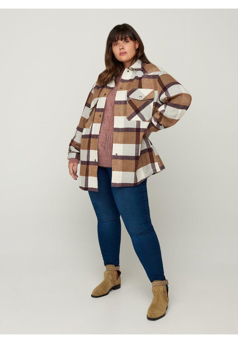 Zizzi - Light jacket - brown