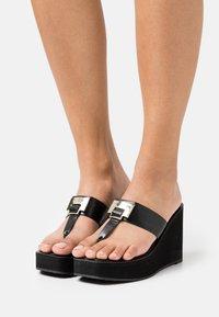 ALDO - ACARENIA - T-bar sandals - black - 0