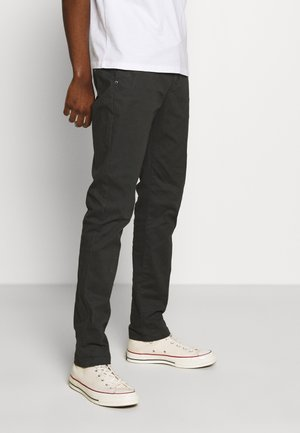 STUART PEACHED WITH GIVE AWAY BELT - Chino - charcoal
