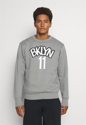 NBA BROOKLYN NETS KYRIE IRVING NAME AND NUMBER CREWNECK - Club wear - dark steel grey/white