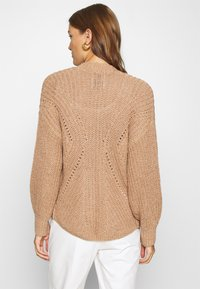 Abercrombie & Fitch - PUFF SLEEVE CARDI - Cardigan - brown - 2