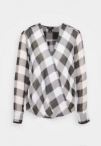 DKNY - WRAP TOP - Blouse - black/white - 0