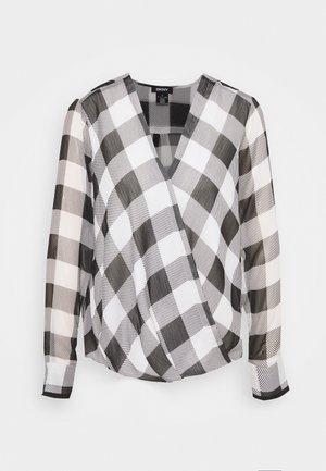 WRAP TOP - Blouse - black/white