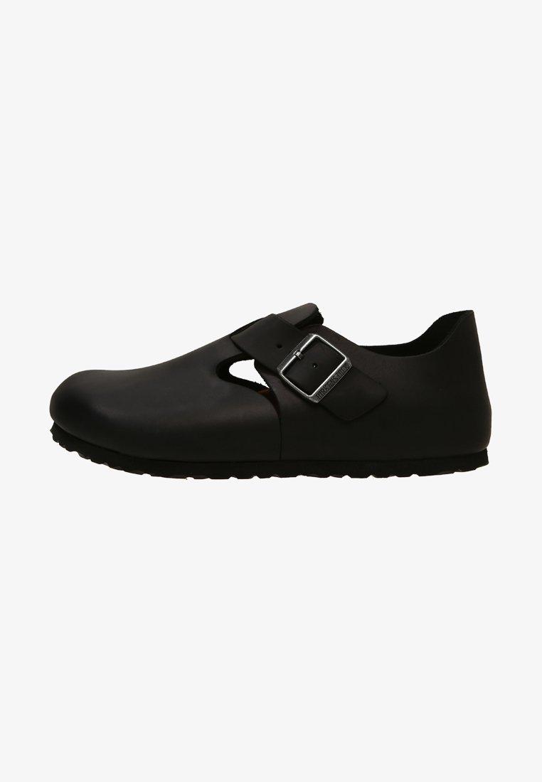 Birkenstock - LONDON NARROW - Nazouvací boty - black