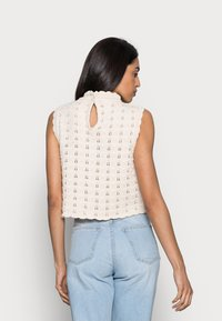 Rich & Royal - CREW NECK WITHOUT SLEEVES - Jumper - white stone - 2