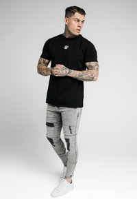 SIKSILK - SKINNY FIT ACID WASH WITH DISTRESSING - Jeans Skinny Fit - snow wash grey - 1