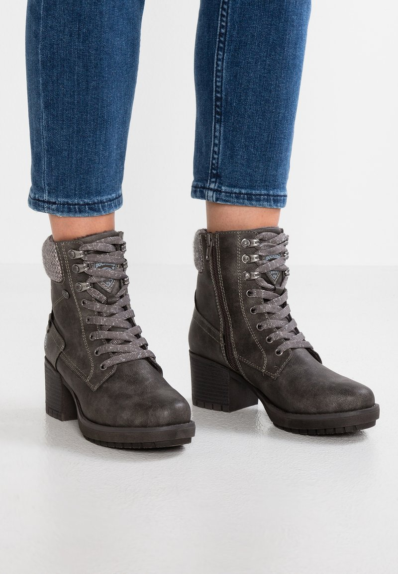 Dockers by Gerli - Lace-up ankle boots - dunkelgrau