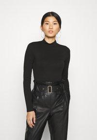 Anna Field - 2 PACK - T-shirt à manches longues - black/mottled light grey - 0