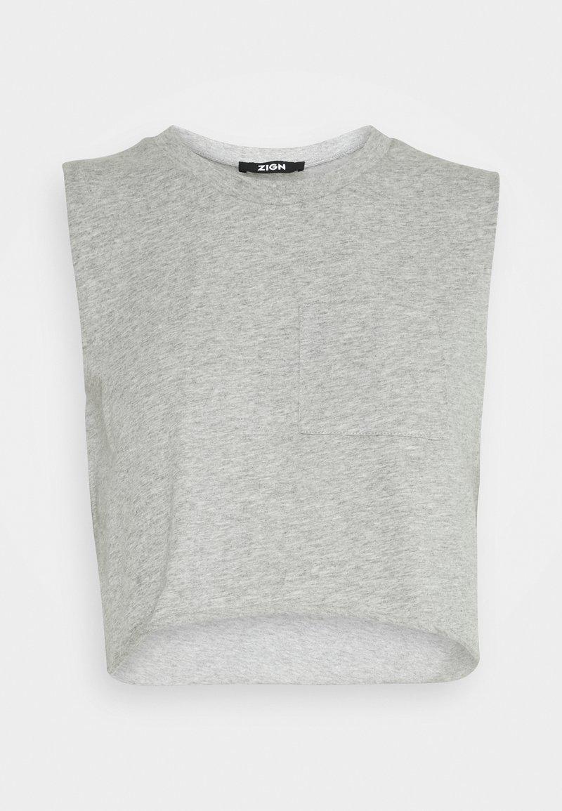 Zign - Top - mottled light grey