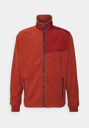 ZIP THROUGH UNISEX - Športna jopa s kapuco na zadrgo - orange