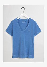 GANT - SUNFADED - Print T-shirt - pacific blue - 4