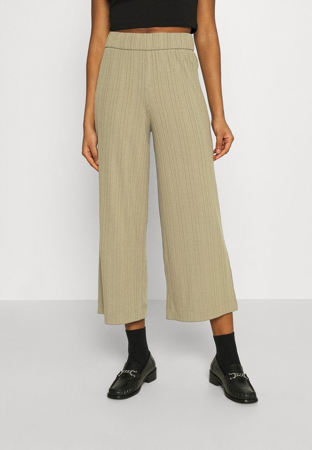 CILLA TROUSERS - Trousers - khaki green/medium dusty