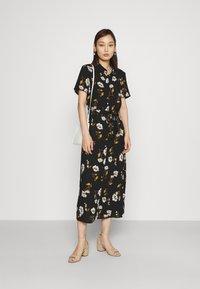 Vero Moda - VMMELLIE LONG SHIRT DRESS - Shirt dress - black/mellie - 1