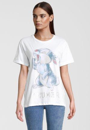 KLOPFER - T-shirt print - clear white