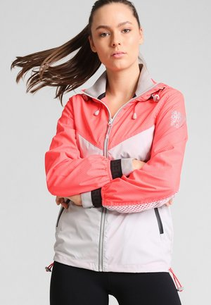 Veste coupe-vent - shocking red/cool grey