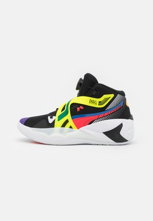 DISC REBIRTH - Basketball shoes - black/yellow alert