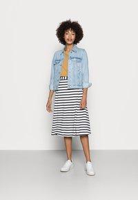 Marc O'Polo - JERSEY SKIRT - A-line skirt - multi/dark blue - 1