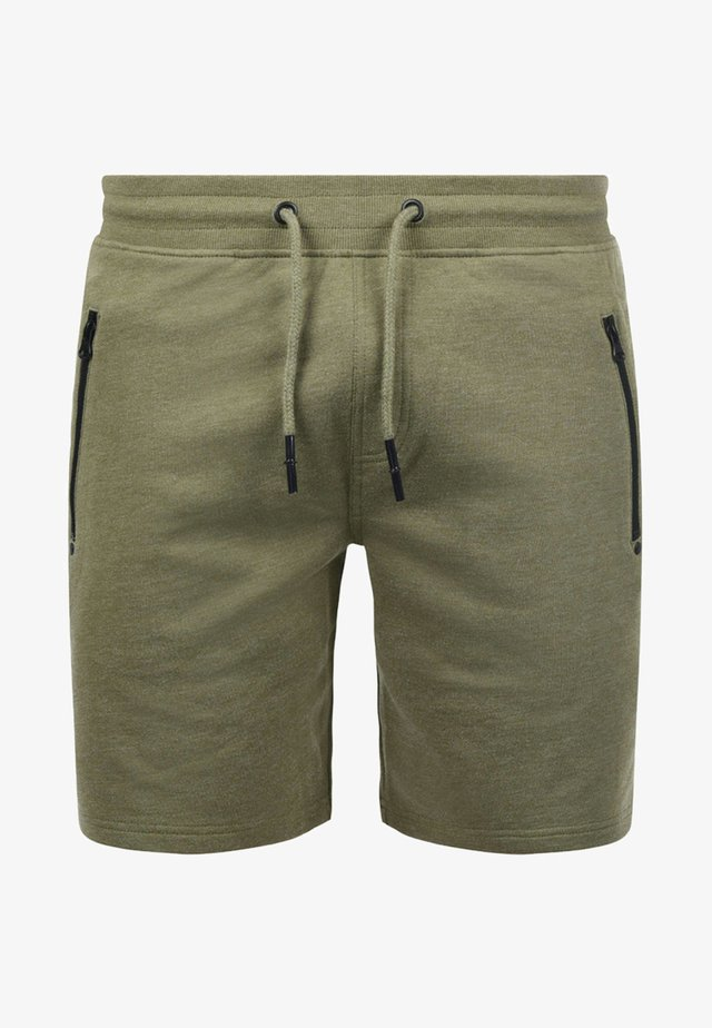SWEATSHORTS TARAS - Shorts - green melange