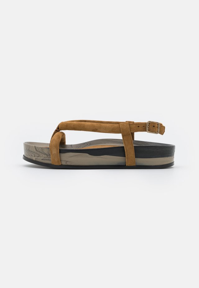 T-bar sandals - marmo fango