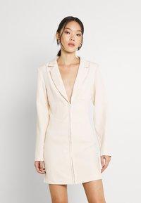 Missguided - CORSET DETAIL BLAZER DRESS - Shift dress - stone - 0