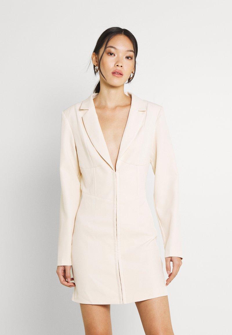 Missguided - CORSET DETAIL BLAZER DRESS - Shift dress - stone
