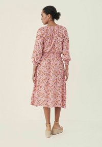 Part Two - HILAL - Day dress - flower print, sea pink - 1