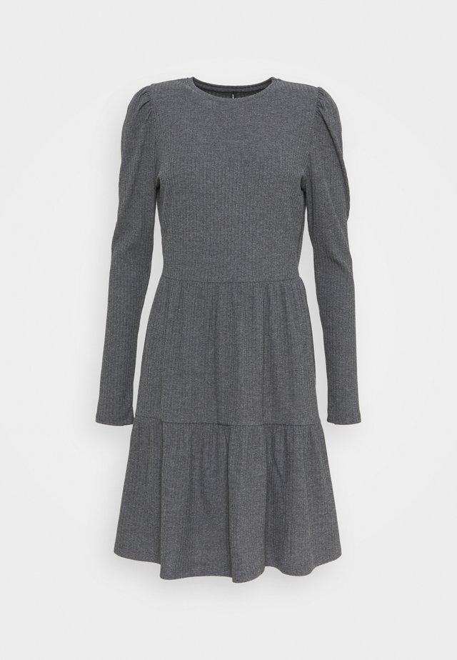 ONLNELLA PUFF DRESS - Abito in maglia - dark grey melange