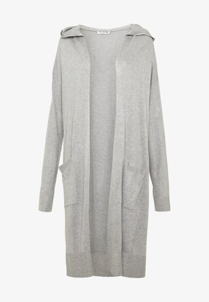 NMOWEN LONG CARDIGAN - Kofta - light grey melange