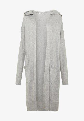 NMOWEN LONG CARDIGAN - Vest - light grey melange