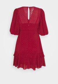 Forever New - MONIQUE BLOUSON SLEEVE MINI DRESS - Day dress - red - 1