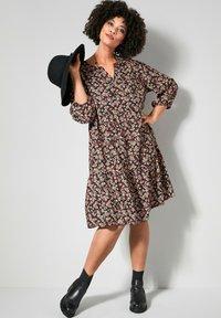 Angel of Style - Day dress - schwarz,rosé - 1