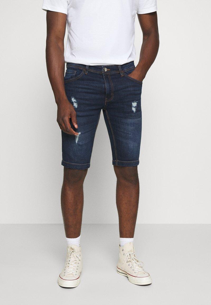 Redefined Rebel - HAMPTON - Denim shorts - mid blue