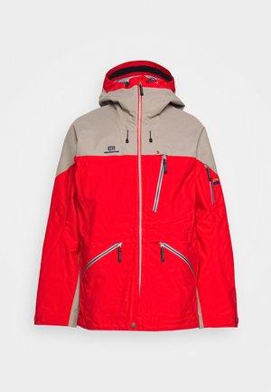 MENS BACKSIDE JACKET - Ski jacket - red