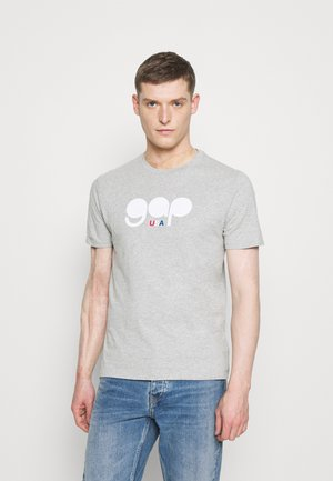 FLAG TEE - Print T-shirt - light heather grey