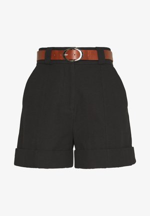 BELTED MINI  - Shorts - black