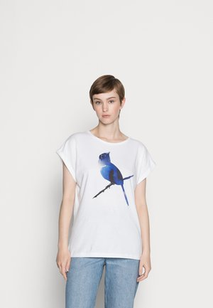 VISBY BLUEBIRD WHITE - T-shirt print - white