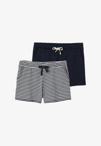 Vertbaudet - Shorts - wollweiß gestreift - 0