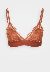 Lindex - BRA NORA BRALETTE - Triangle bra - dark dusty orange - 0
