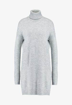 VMLUCI ROLLNECK DRESS - Pletené šaty - light grey melange