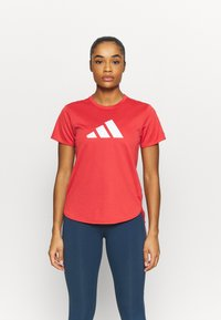 adidas Performance - LOGO TEE - T-shirts med print - crew red/white - 0