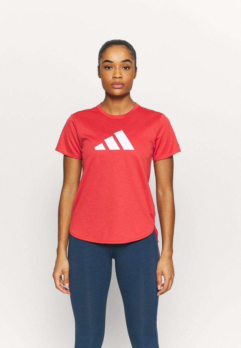 adidas Performance - LOGO TEE - T-shirts med print - crew red/white