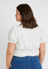 New Look Curves - SHIRRED SPOT - Blouse - white - 2