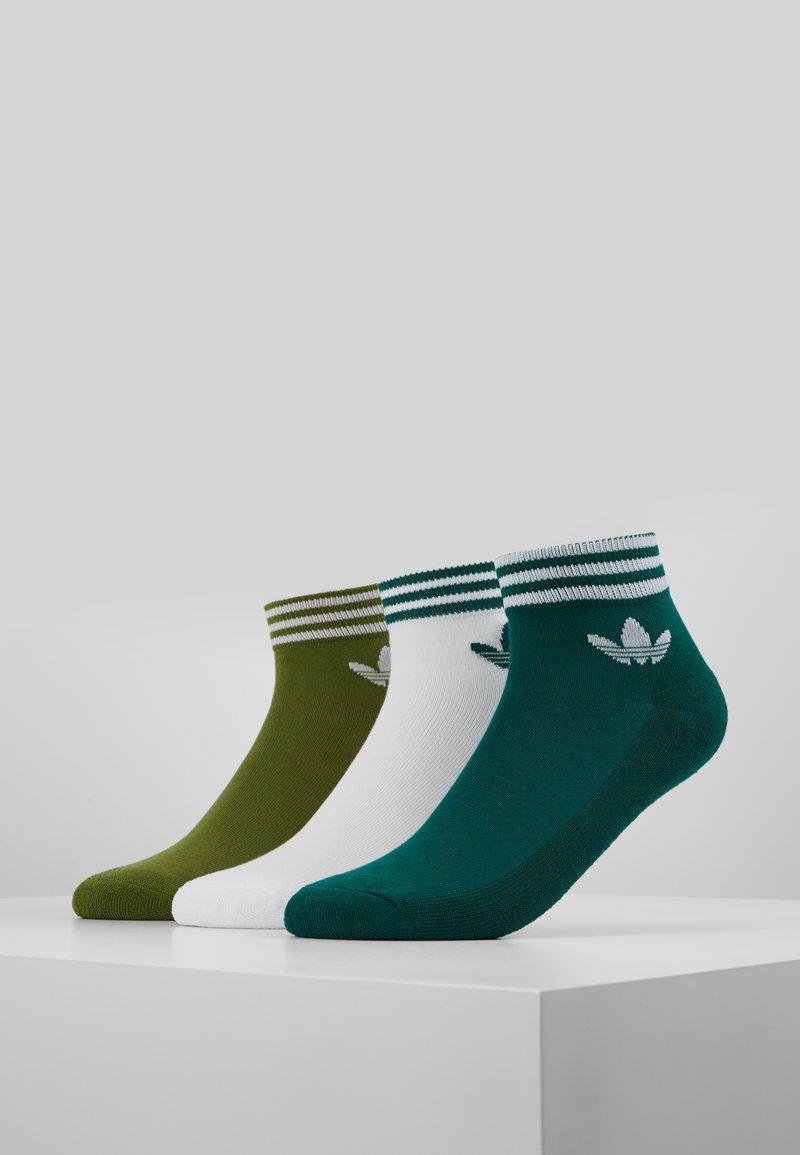 adidas Originals - 3 PACK - Skarpety - green/white