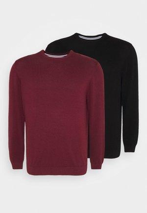 2 PACK - Pullover - black/bordeaux