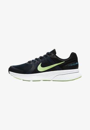 RUN SWIFT 2 - Zapatillas de running neutras - obsidian black white lime glow
