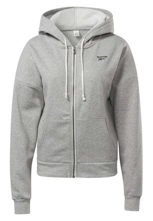 TRAINING ESSENTIALS FULL-ZIP HOODIE - Collegetakki - grey