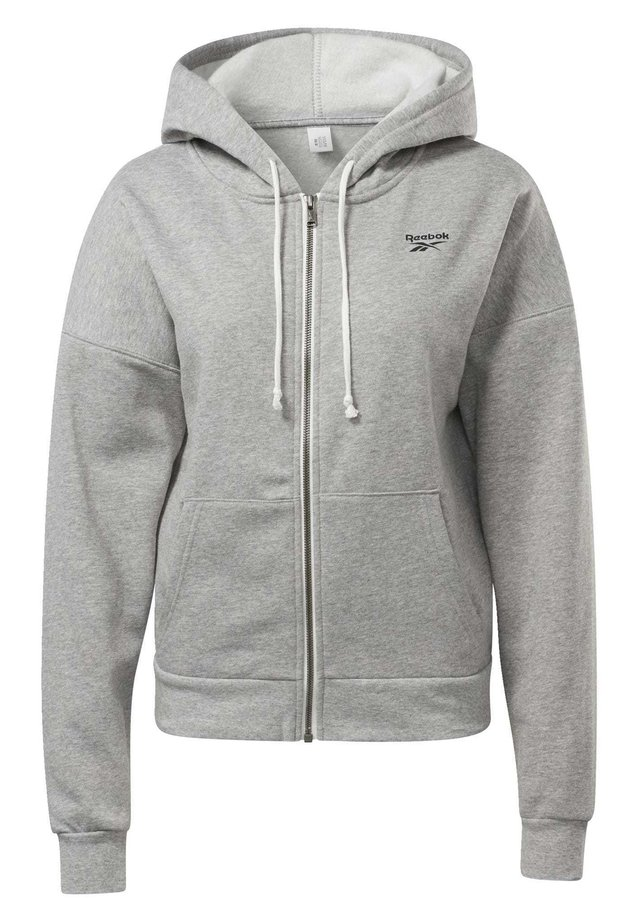 TRAINING ESSENTIALS FULL-ZIP HOODIE - Zip-up hoodie - grey